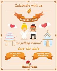 Свадебные приглашения карты с шаблон элемента