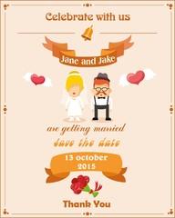 Свадебные приглашения карты, векторные иллюстрации