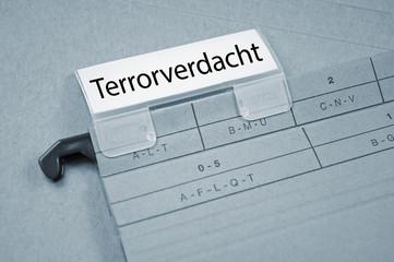 Ordner mit Terrorverdacht