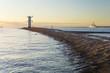 canvas print picture - zachód słońca nad morzem