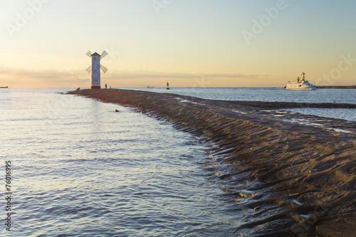 canvas print picture zachód słońca nad morzem