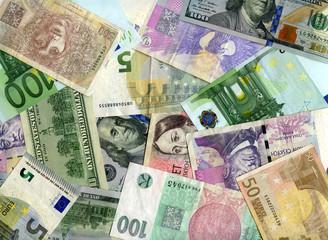 Background. US dollars, Euro and Czech koruns