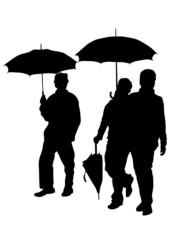 Men with umbrella