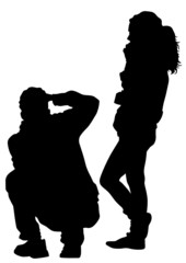 Photo boy and girl