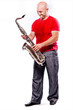 man playing the saxophone
