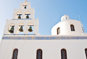 Vintage church in Oia, Santorini, Greece