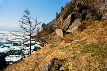 Spring on Circum-Baikal Road to the south of Lake Baikal