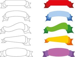 Набор линии и смелые баннер лентами
