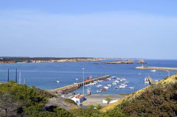 Sagres harbour on the Algarve, Portugal