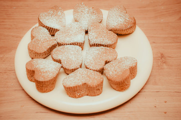 sweet hearts muffins