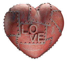 Metal love. Clipping path included.