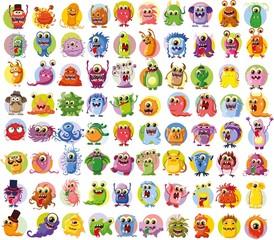 Большой набор векторных рисунков разных персонажей