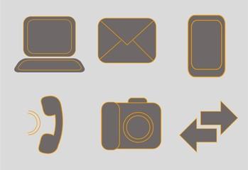 Набор векторных веб-иконы