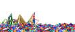 canvas print picture - Partyhüte auf Konfetti