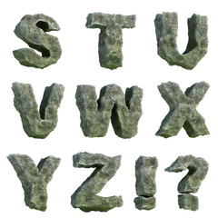 Stone letters (part 3 of 3)