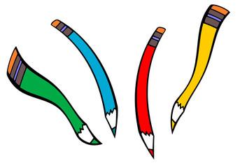 Logo crayons de couleurs