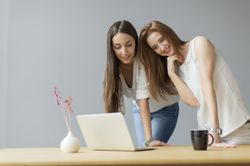 Young women in the office