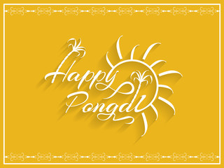 Elegant background design of Happy Pongal.