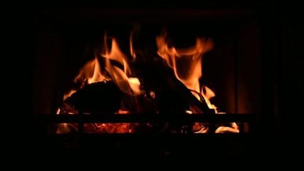 Feuer Kamin Ofen Flammen Heizung Wärme