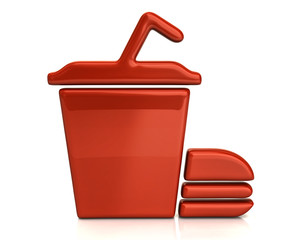 Orange fast food icon