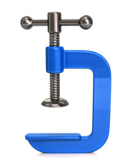 Blue clamp Icon