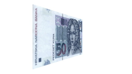 Fifty Croatian Kuna Rotating