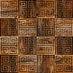 Abstract paneling pattern - seamless background - cassette floor
