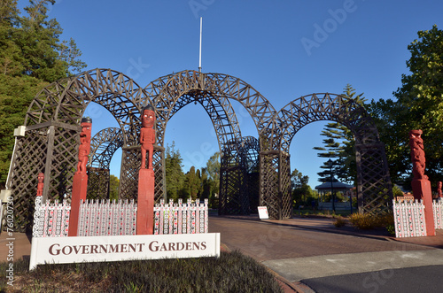 Princes Gate Archway Rotorua  New Zealand - 76020730