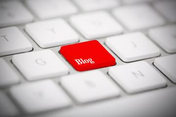 "The word ""BLOG"" written on keyboard"