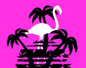Creative vector flamingo