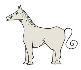 Creative horse draw