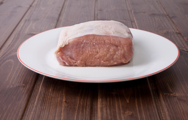 Raw loin of pork