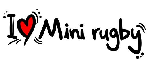 Mini rugby love symbol