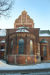 The Dome Cathedral in Riga, Latvia in winter