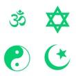 canvas print picture - Symboles religieux