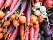 Leinwandbild Motiv Colorful root vegetables
