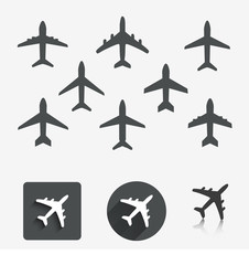 Plane set. Vector illustration.