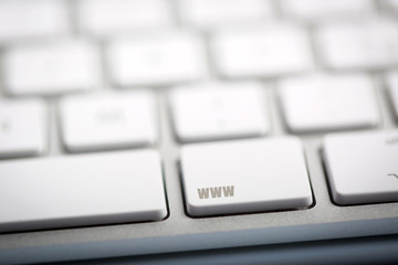 "The word ""WWW"" written on keyboard."