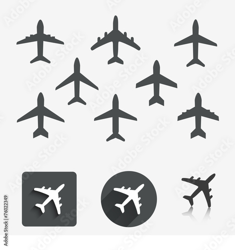 Plane set. Vector illustration. - 76022349