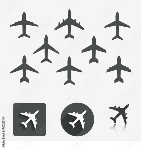 Plane set. Vector illustration. poster
