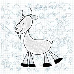 Детские рисунки каракули козла