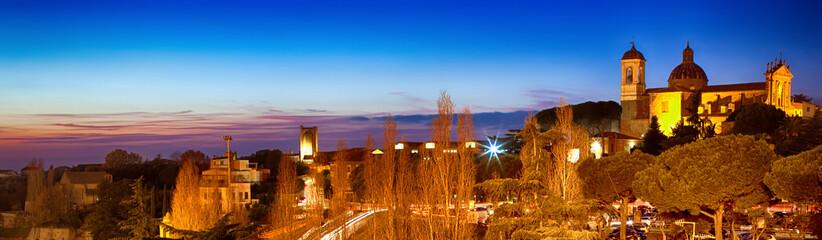 Night View Of Viterbo Lazio Italy