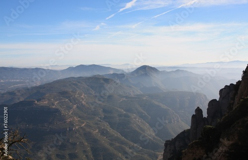 canvas print picture Bergwelt Montserrat