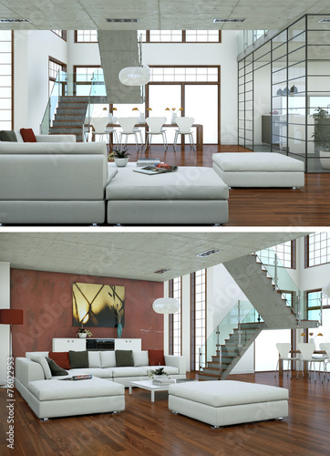 GamesAgeddon - modernes Loft Interieur Design - Lizenzfreie Fotos ...