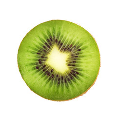 Slice of fresh kiwi fruit