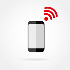 mobile phone with Wi fi icon
