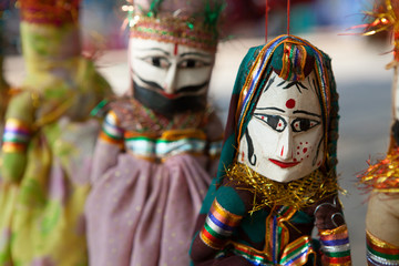Colorful Indian Puppets