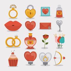 Romantic design, vector illustration.