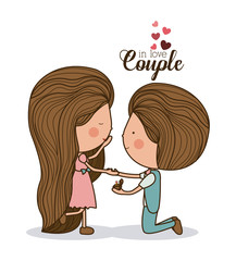 Romantic day design, vector illustration