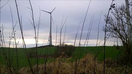 Wind Wheel in Landscape